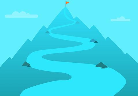 Les étapes pour gravir la montagne
